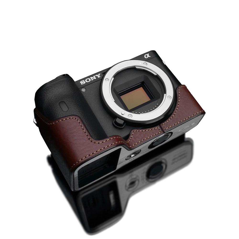 GARIZ SONY α6600 用 本革カメラケース XS-CHA6600BR ブラウン