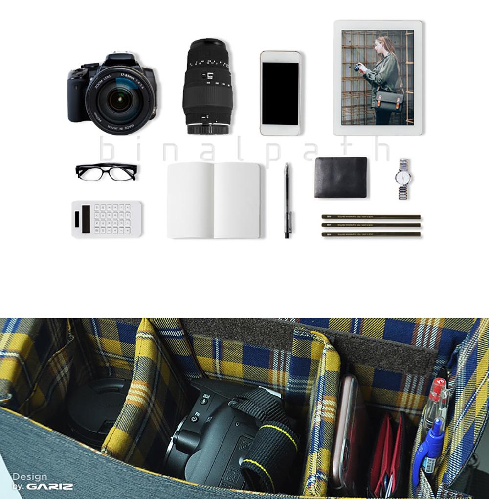 GARIZ ミラーレス一眼/小型一眼レフカメラ用 ショルダーカメラバッグ CB-NCLKH カーキ