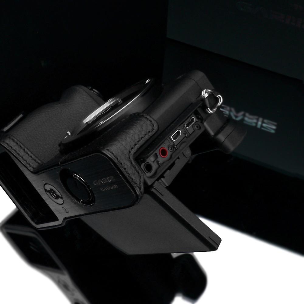 GARIZ SONY α6600 用 本革カメラケース XS-CHA6600BK ブラック