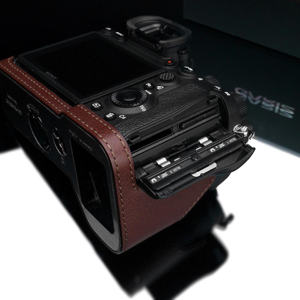 GARIZ SONY α9 II 用 本革カメラケース XS-CHA9IIBR ブラウン