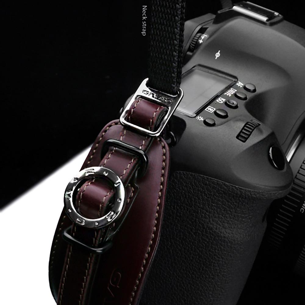 GARIZ 本革カメラハンドグリップ&ネックストラップ(ポーチ付)+プレートセット XS-NFBR ブラウン
