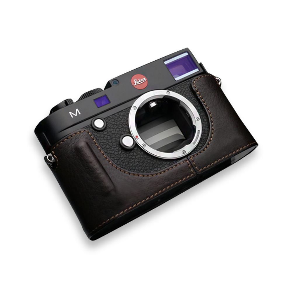 GARIZ Leica M用 本革カメラケース BL-LCMBR ブラウン
