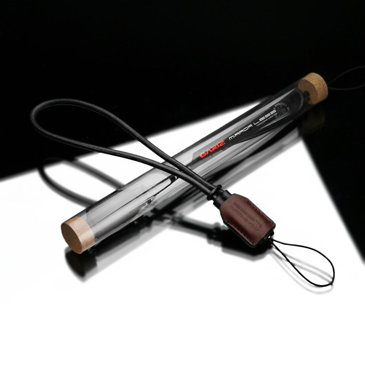 GARIZ 本革カメラリストストラップ XS-WSL2 ブラウン