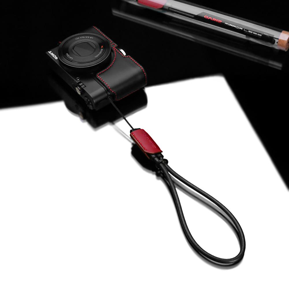 GARIZ 本革カメラリストストラップ XS-WS2 レッド