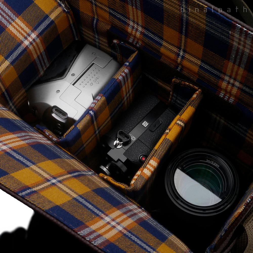 GARIZ ミラーレス一眼/コンパクトデジカメ用 ショルダーカメラバッグ CB-NMCL NAVY