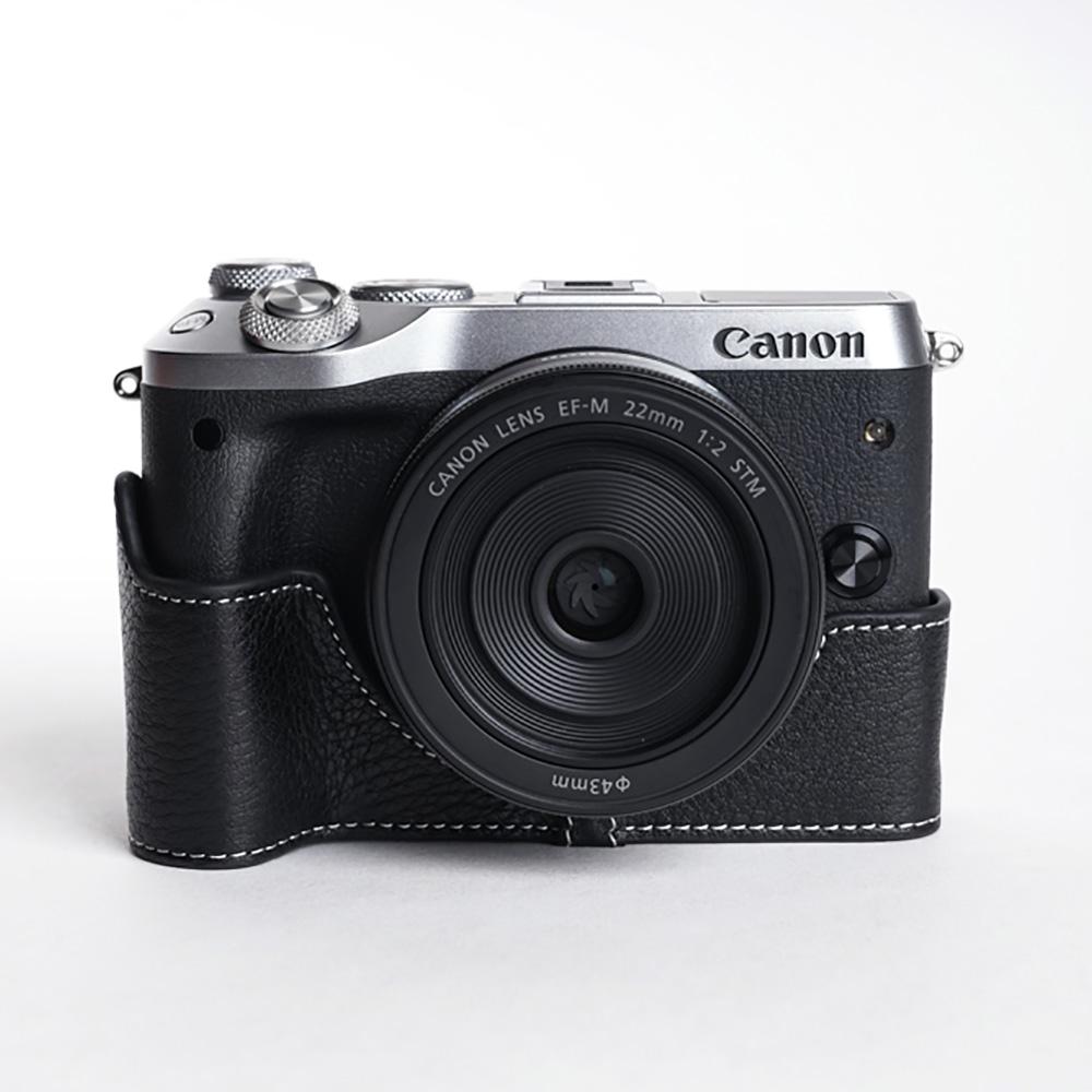 TP Original Canon EOS M6 用 ボディーハーフケース ブラック