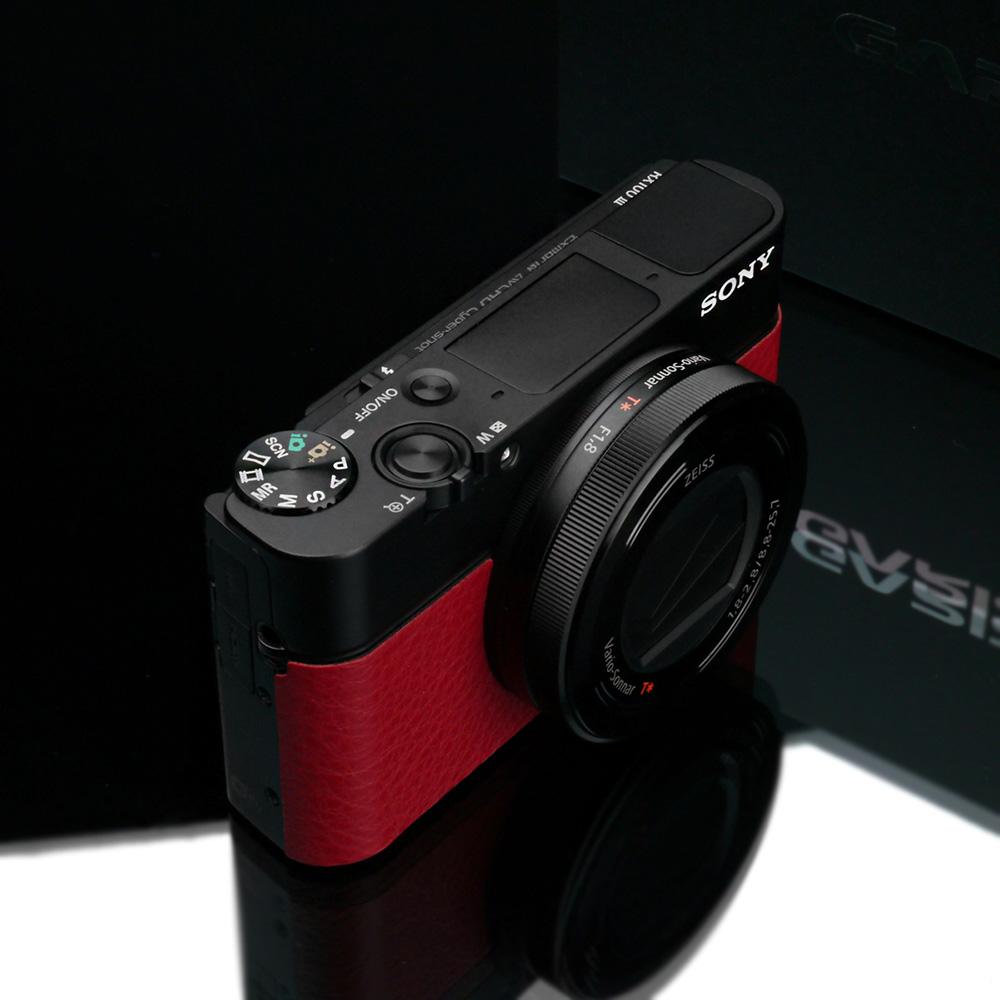 GARIZ SONY DSC-RX100M6/M7用 貼り革キット LS-RX100M6R レッド