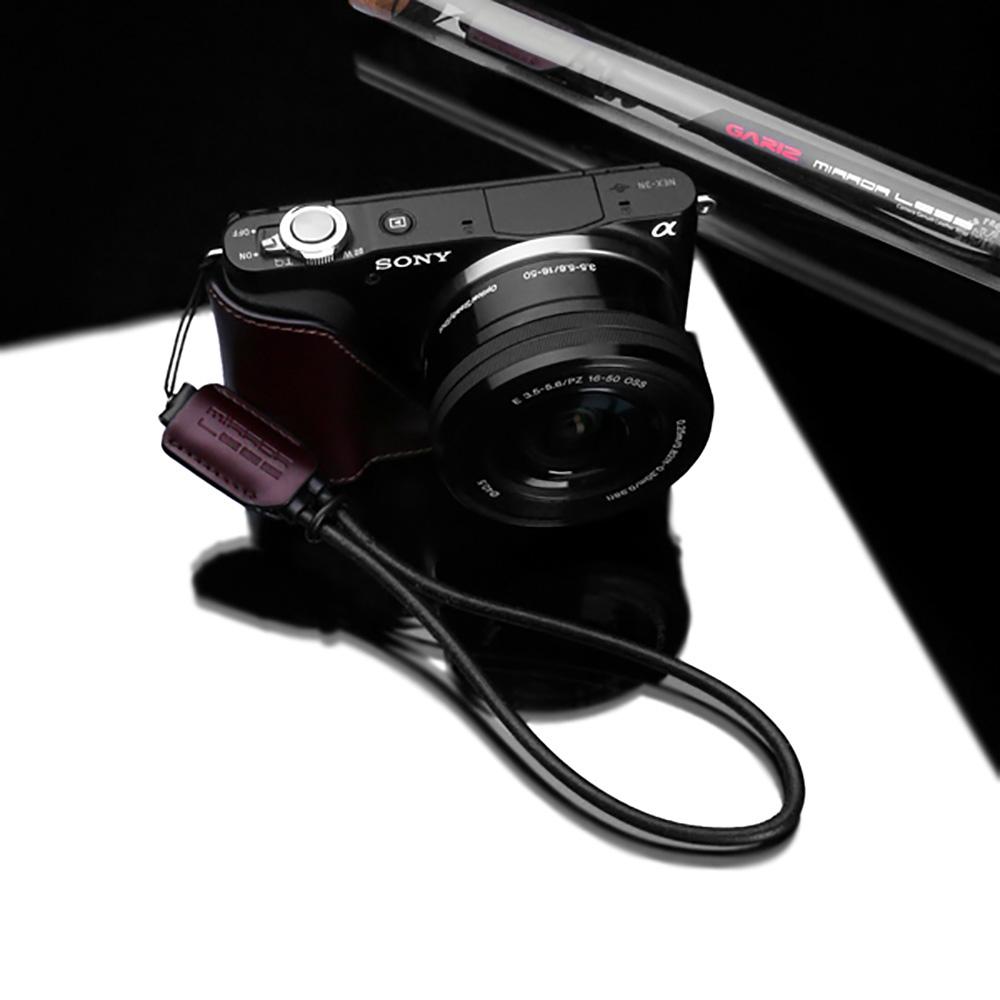 GARIZ 本革カメラリストストラップ XS-WS3 ブラウン