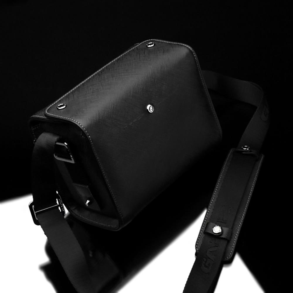 GARIZ ミラーレスカメラ用 本革カメラショルダーバッグ BL-ZBSBK ブラック