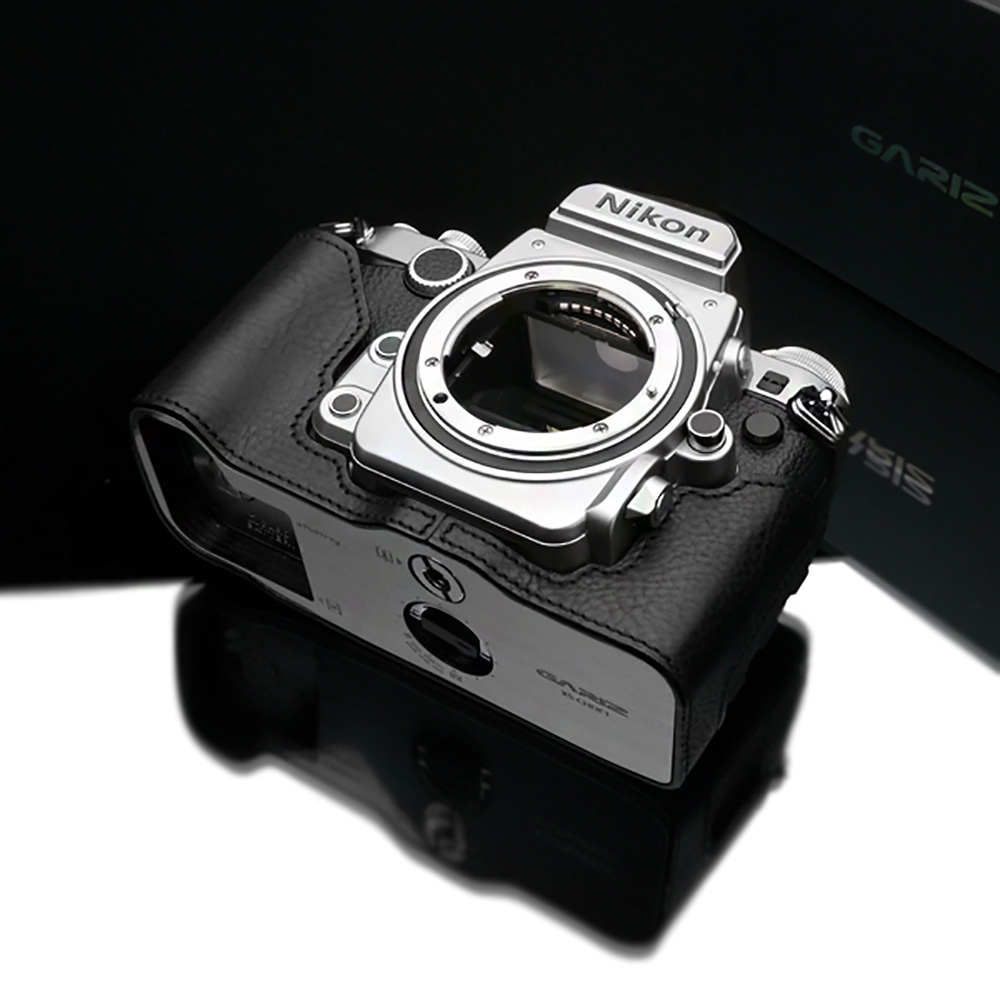 GARIZ Nikon Df用 本革カメラケース XS-CHDFBK ブラック