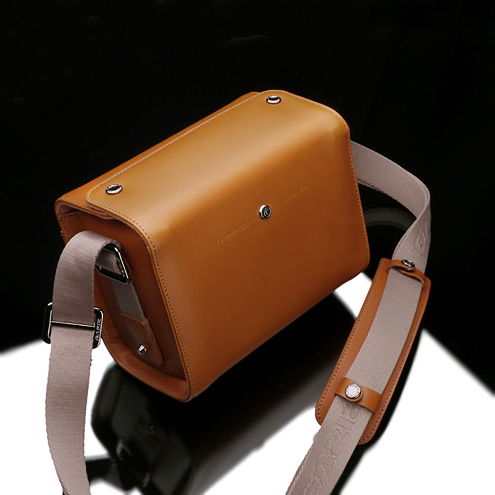 GARIZ ミラーレスカメラ用 本革カメラショルダーバッグ CB-LZSSLB ライトブラウン