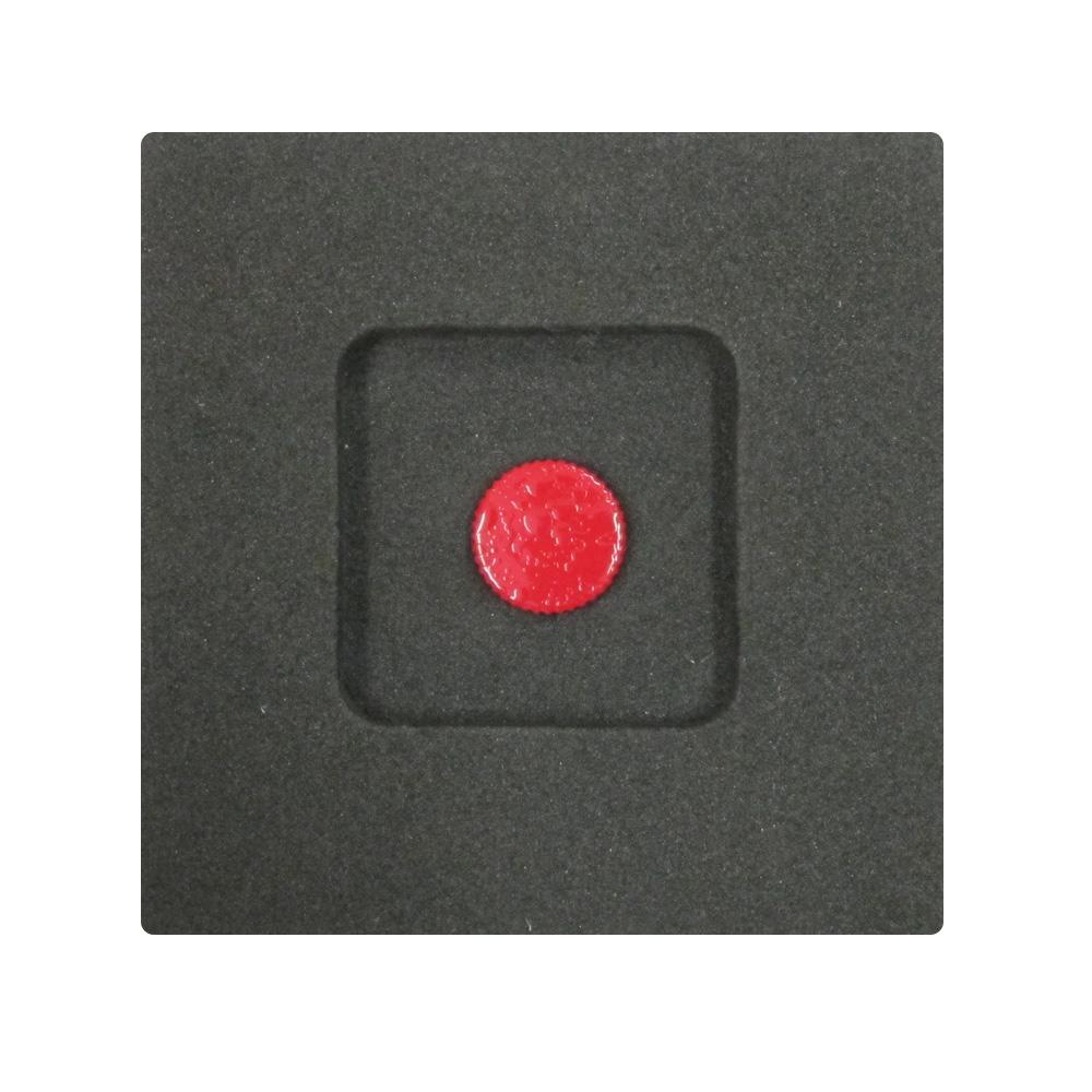 Kカンパニー レリーズボタン 10mm レッドリップル [ねじ込みタイプ]
