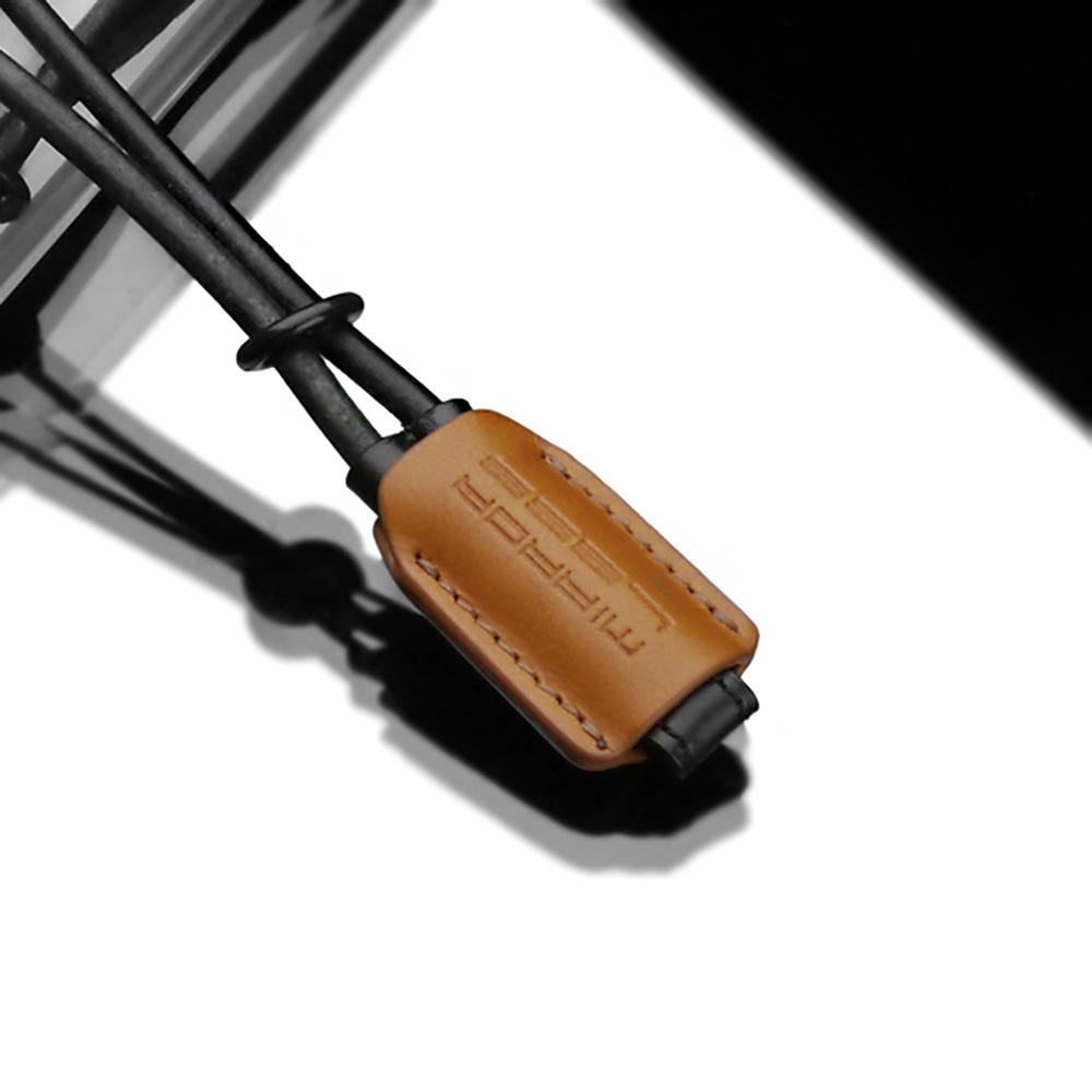 GARIZ 本革カメラリストストラップ XS-WB4 ライトブラウン×ブラック
