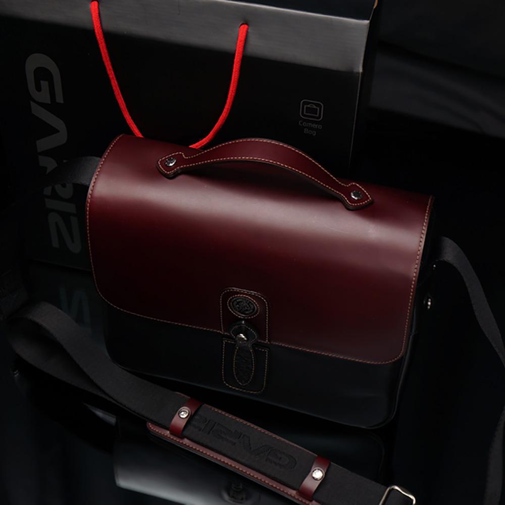 GARIZ ミラーレスカメラ用ショルダーバッグ XS-STC2 ブラウン