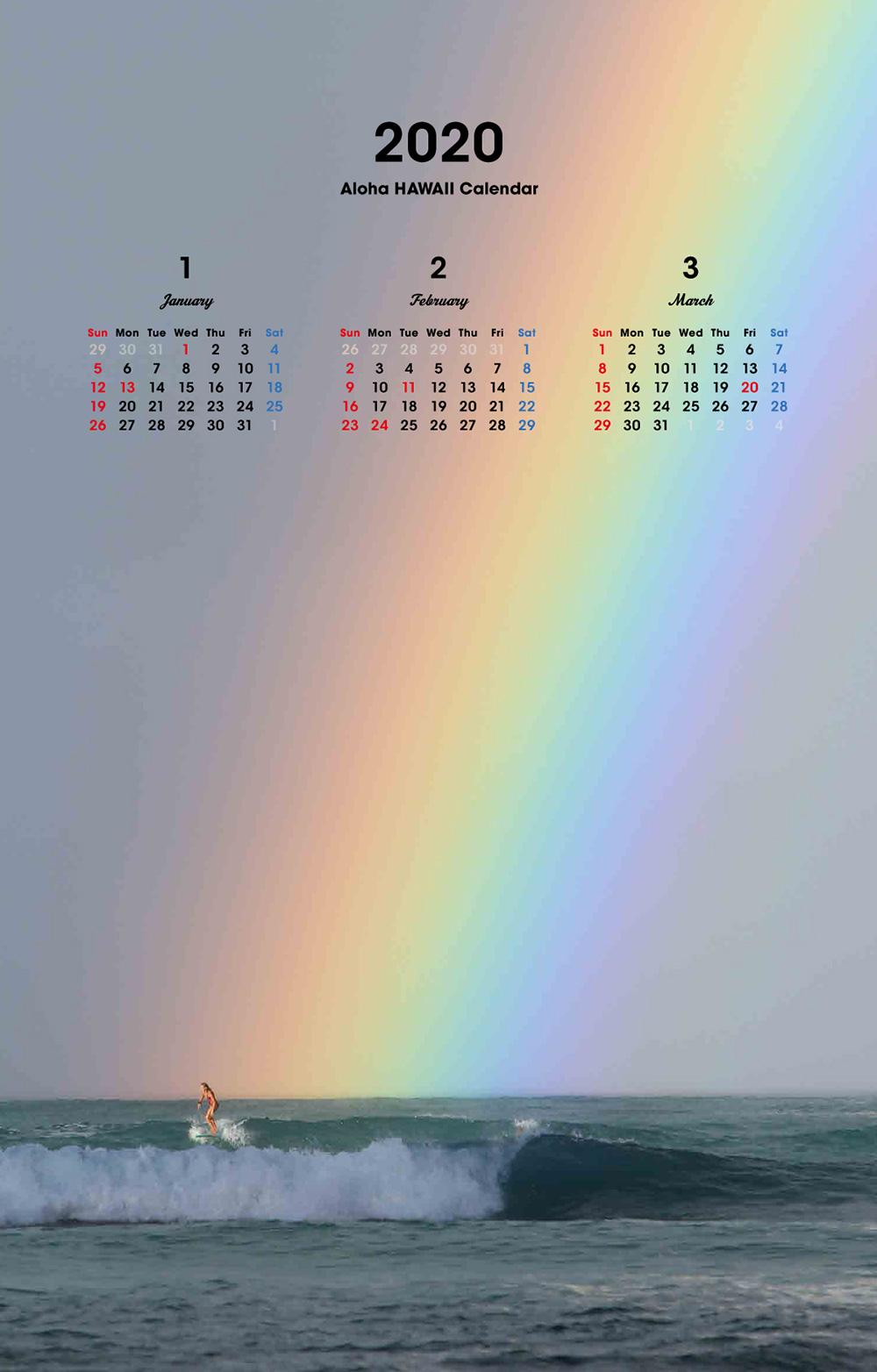 カレンダー2019 ALOHA HAWAII