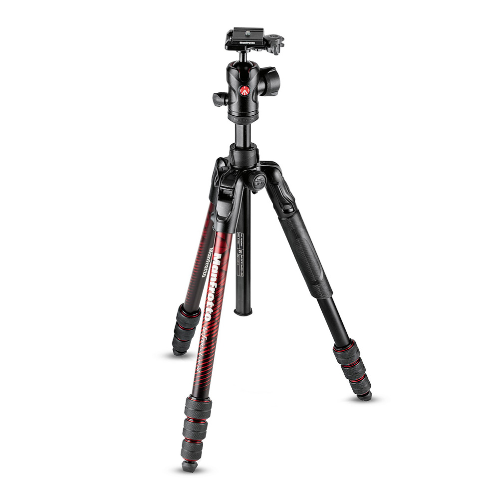 Manfrotto befreeアドバンス アルミニウムT三脚キット レッド MKBFRTA4RD-BH