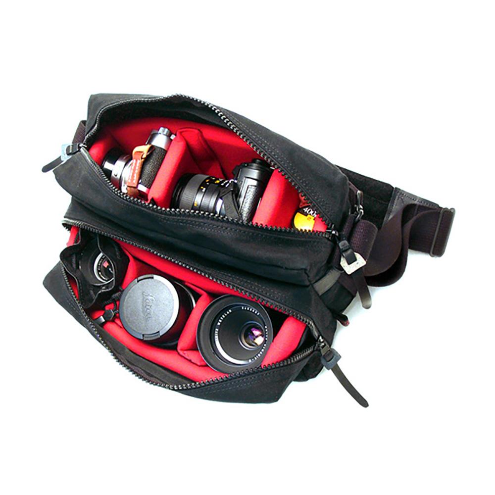 ARTISAN&ARTIST アルティザン&アーティスト パラフィン(?引き)加工10号帆布 カメラバッグ ブラック ACAM-1000-BLK
