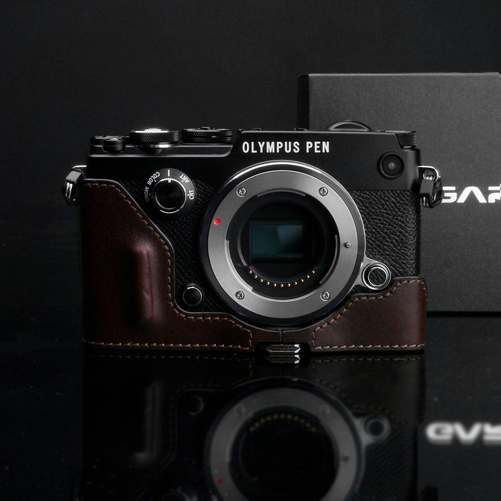 GARIZ OLYMPUS PEN-F用 本革カメラケース HG-PENFBR ブラウン