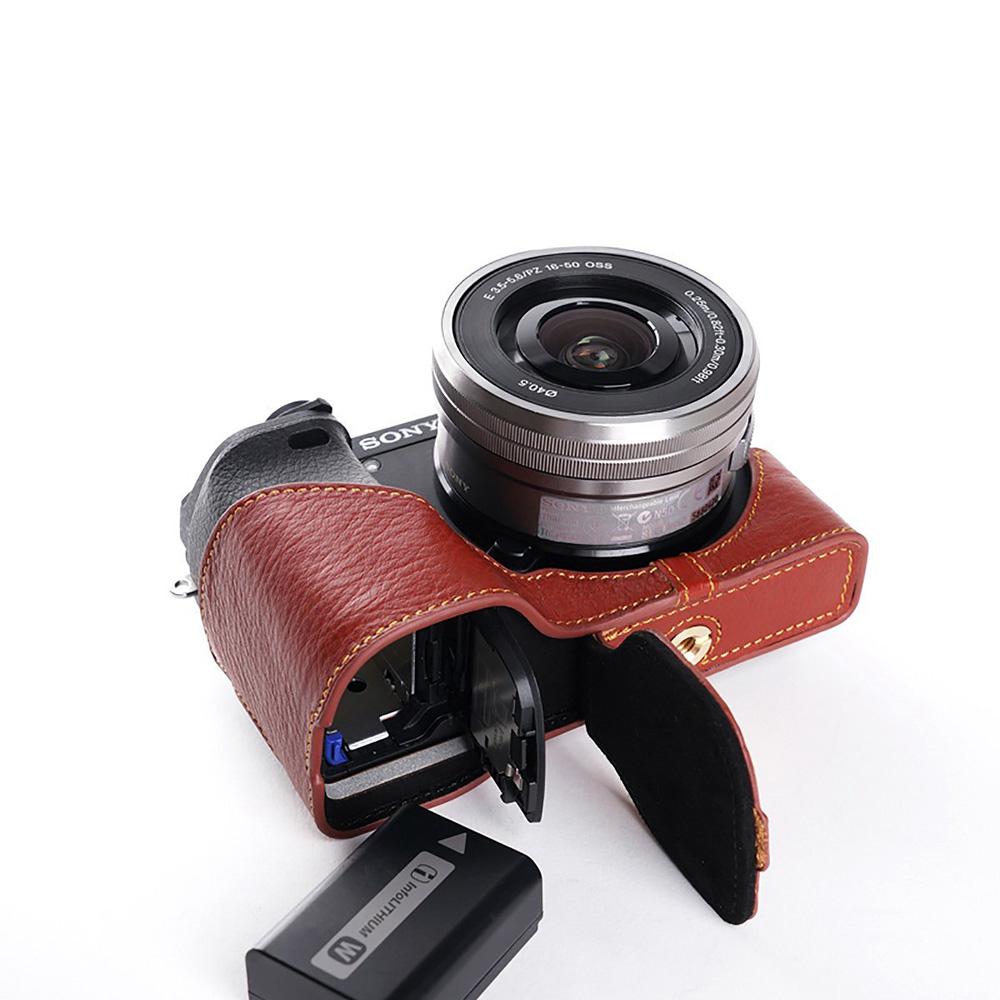 TP Original SONY α6300用 ボディーハーフケース ブラウン