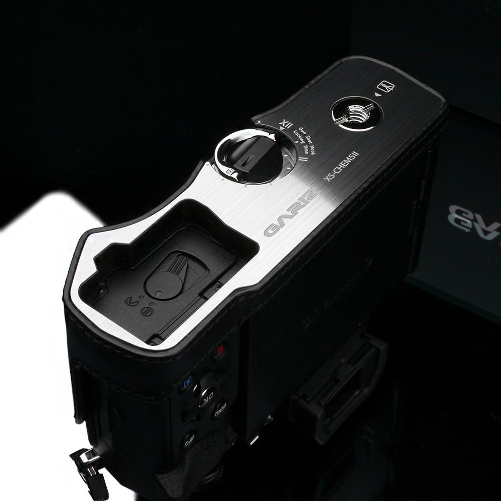 GARIZ OLYMPUS OM-D E-M5 Mark II用 本革カメラケース XS-CHEM5IIBK ブラック