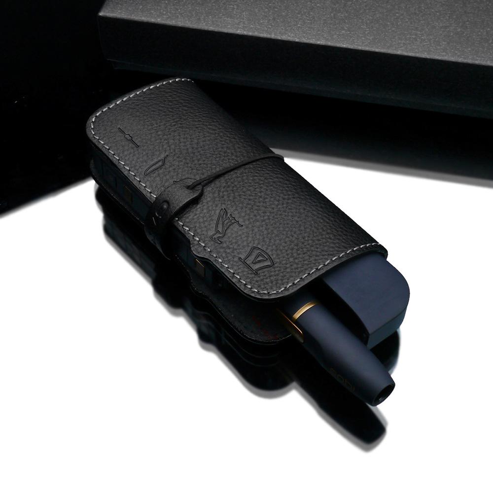 GARIZ iQOS 専用 イタリアンレザー アイコス+ヒートスティック ケースセット PL-IHCBK ブラック