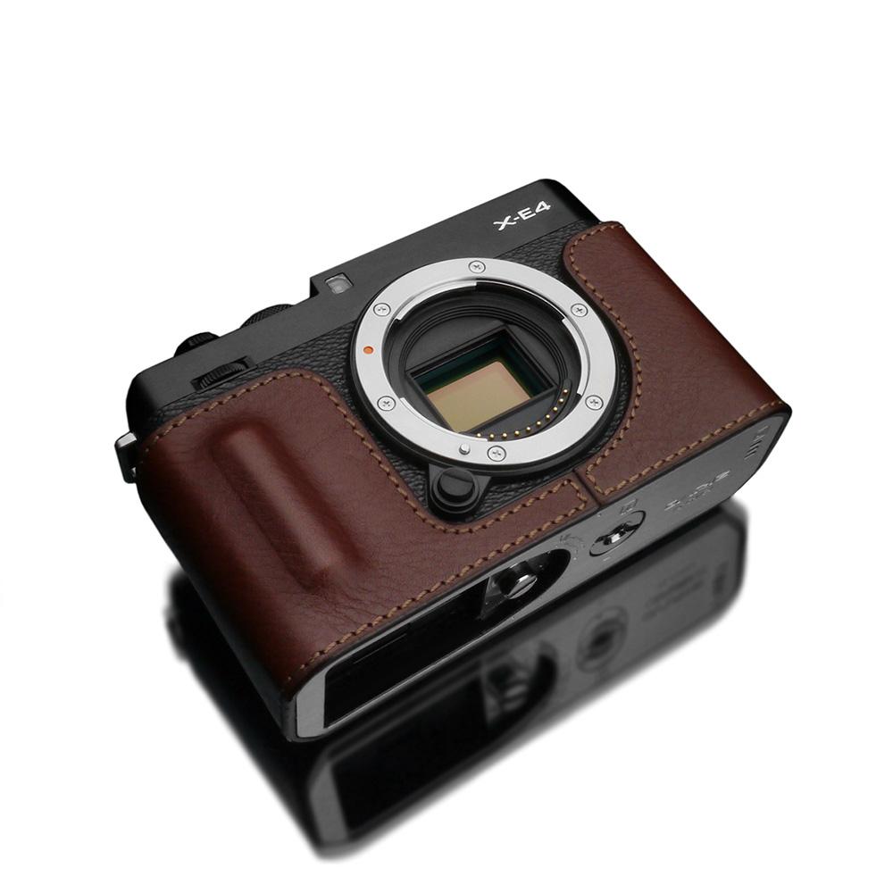 GARIZ FUJIFILM X-E4用 本革カメラケース HG-XE4BR ブラウン