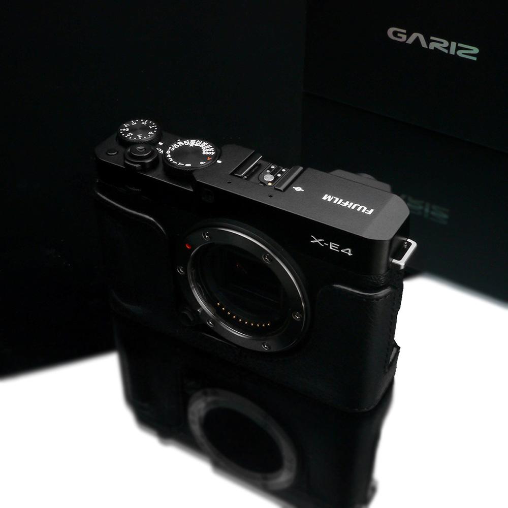 GARIZ FUJIFILM X-E4用 本革カメラケース HG-XE4BK ブラック