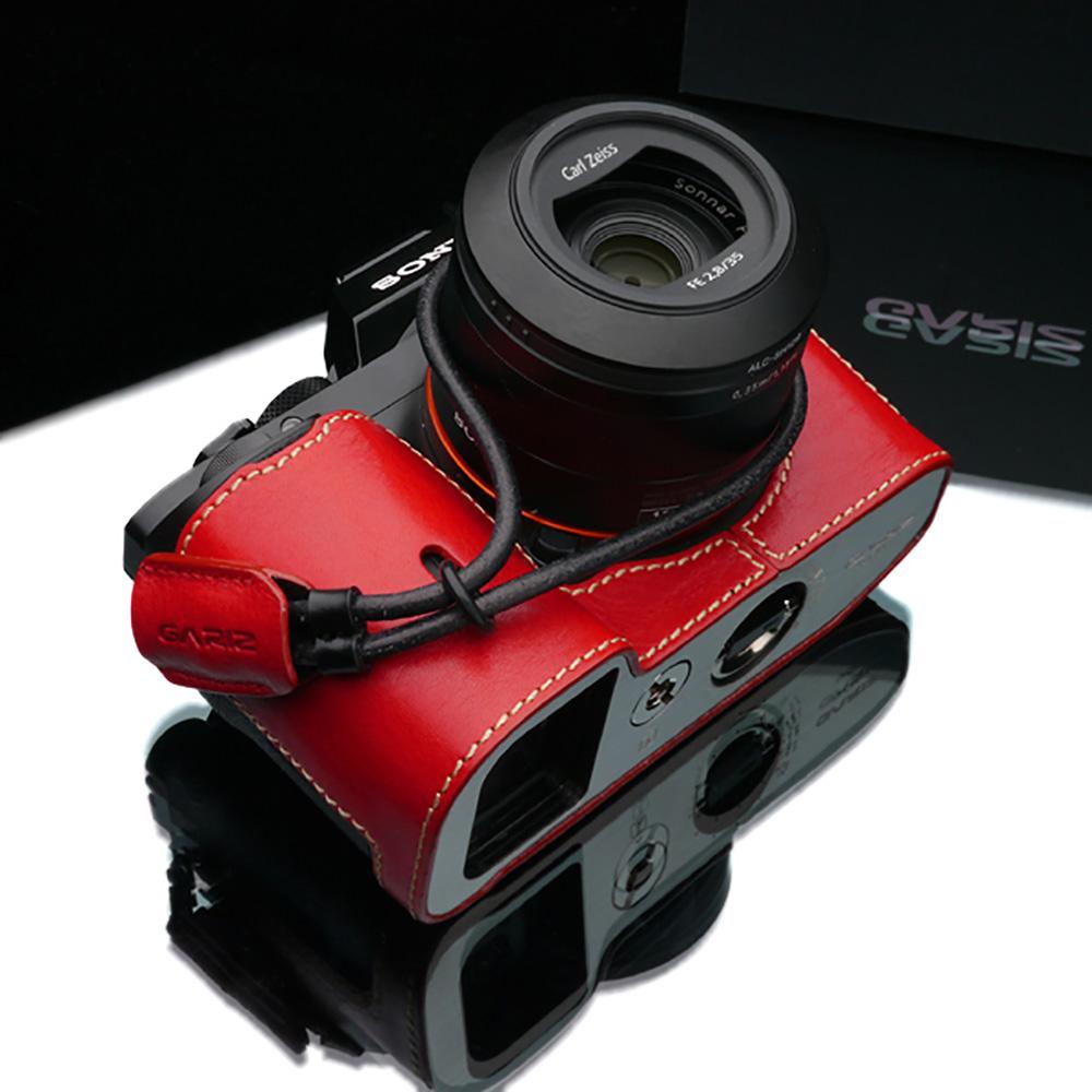 GARIZ 本革カメラリストストラップ XS-WBL10 レッド