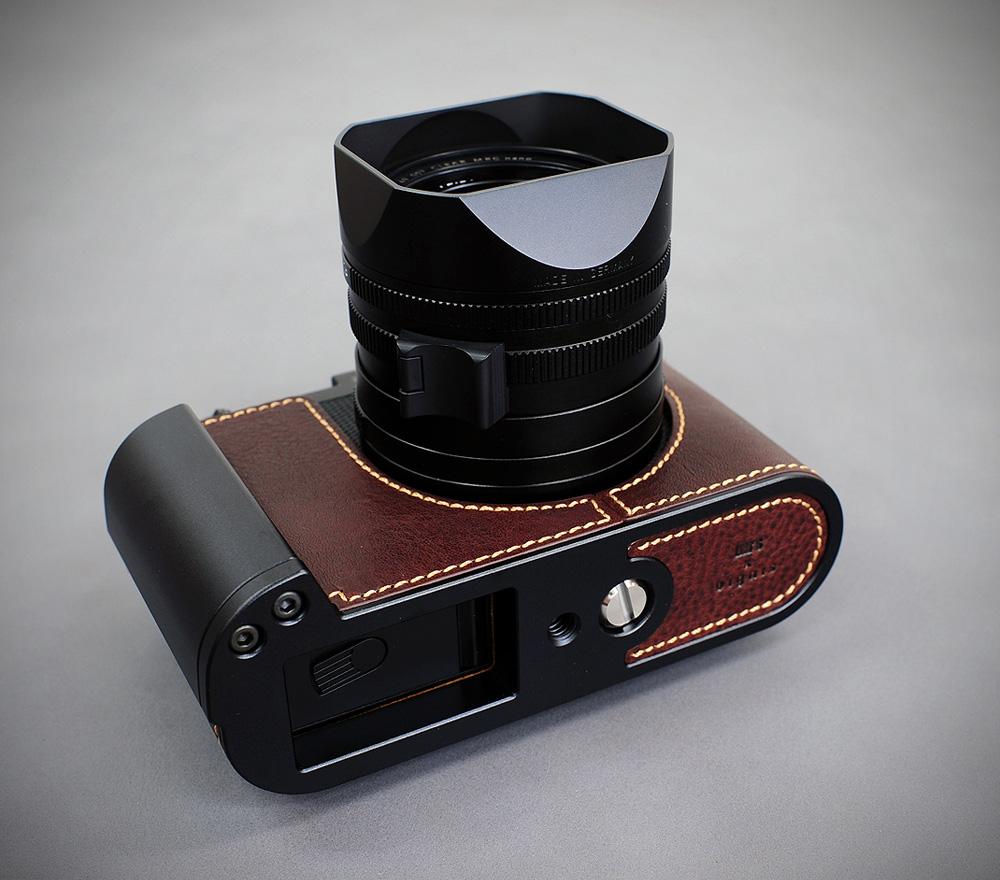 LIM'S×Dignis Leica Q用 本革カメラケース&メタルグリップ LE-HCLCAQBR ブラウン