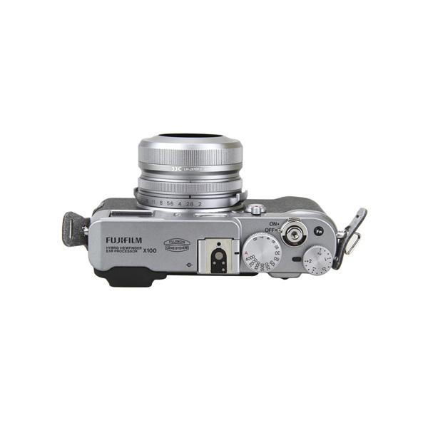 JJC FUJIFILM X100 / X100S / X100T 専用メタルインナーフード シルバー LH-JX100II