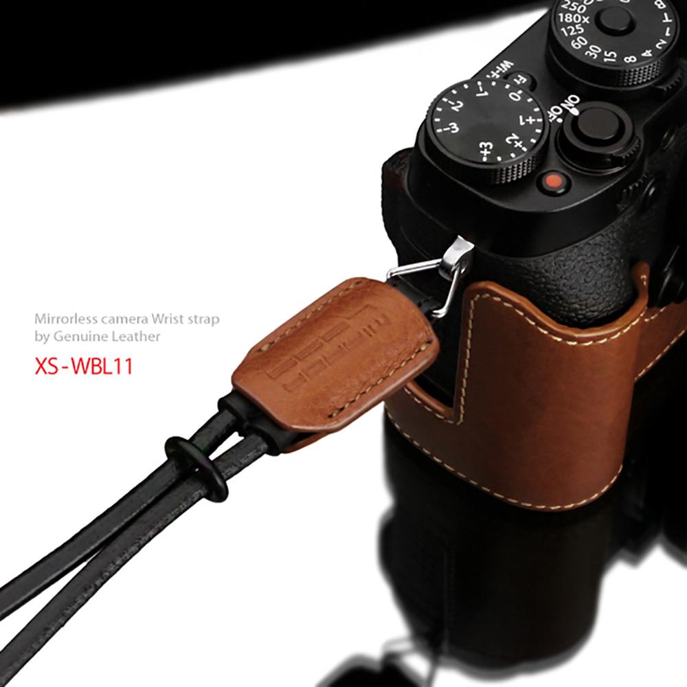 GARIZ 本革カメラリストストラップ XS-WBL11 キャメル