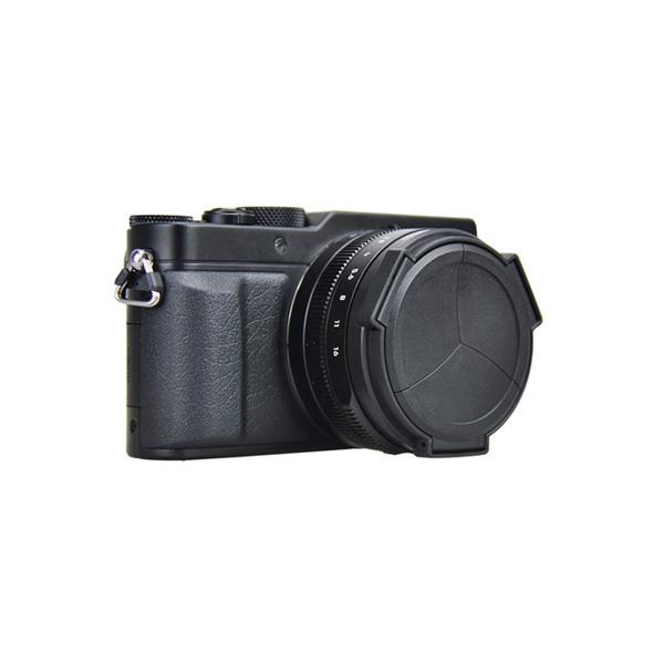 JJC LUMIX LX100/D-Lux Typ109専用オートレンズキャップ ブラック