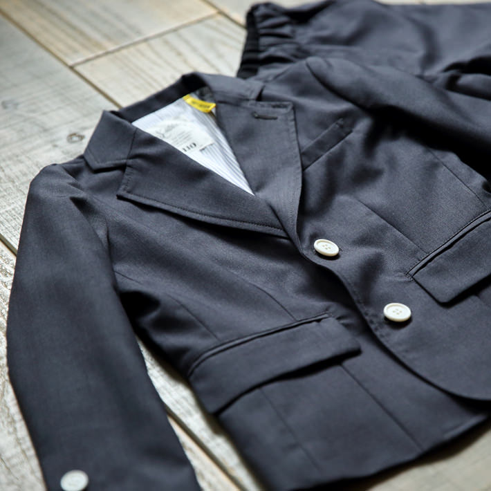 SMOOTHY セットアップスーツ ロング シーゾナルカラー/ダークグレイ 01setup-01m