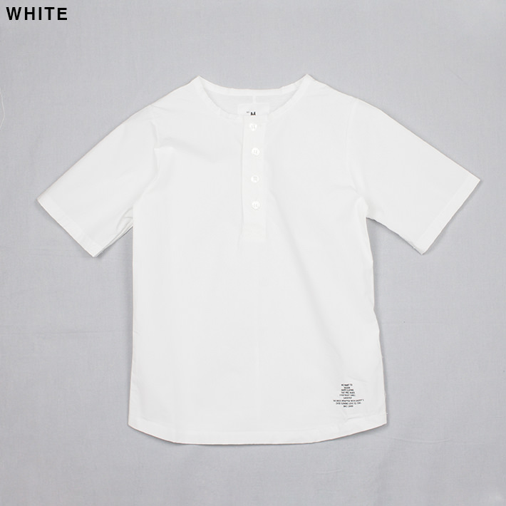 SMOOTHY ノーカラーポロシャツ 25cs-05
