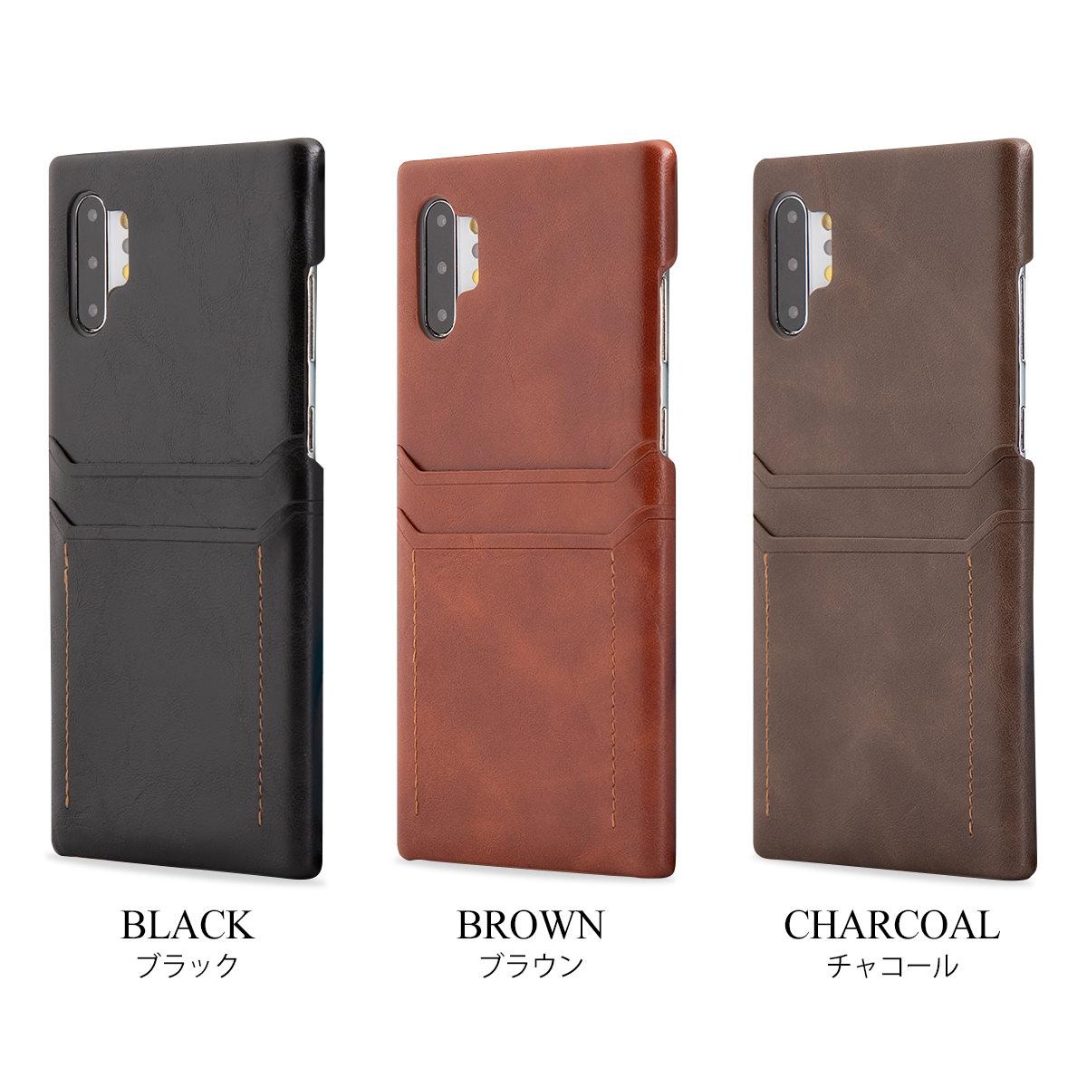 Galaxy Note10+ SC-01M SCV45 カードポケット付き レザー ハードケース ギャラクシー galaxy note10+ sc-01m scv45 note10プラス plus