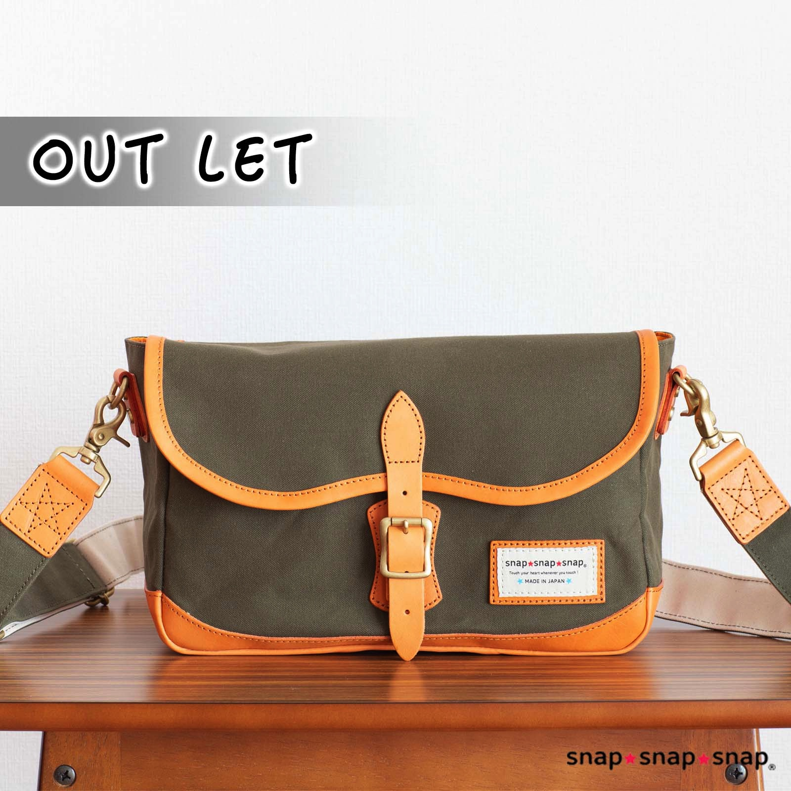 【OUTLET No.2】カメラバッグ ★1st STAR★ OLIVE