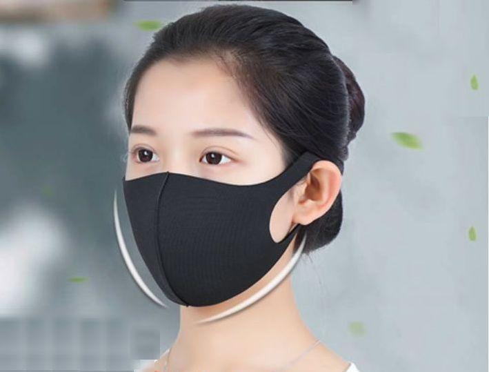 エコCooLマスク(大人用) ブラック 5枚入