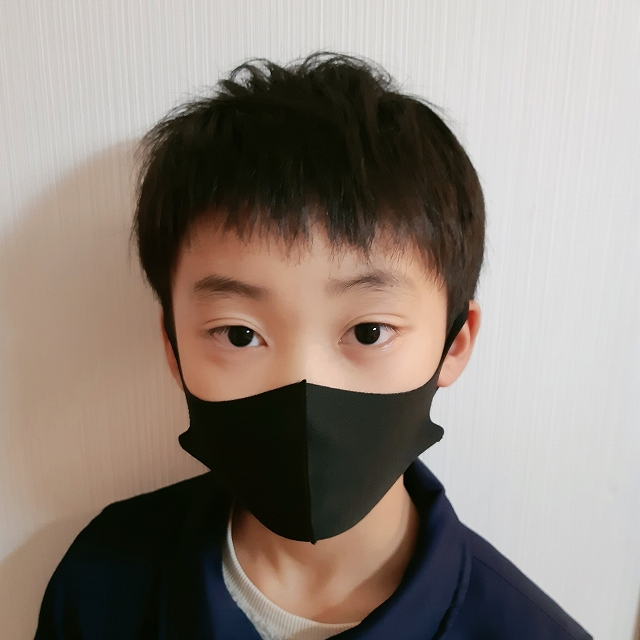 エコCooLマスク(子供用) ブラック 5枚入