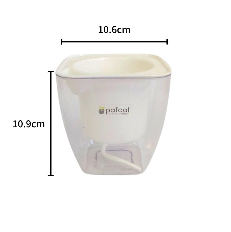 イージーポット 寄せ植えセット 底面給水ポット A ヒポエステスモデルB (シルバーゴールド)