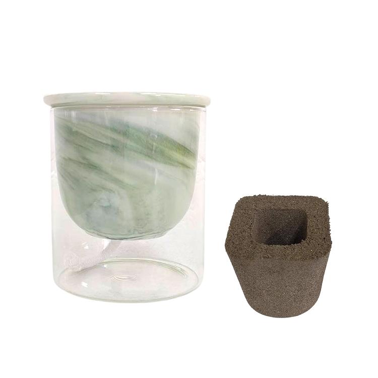ガラス素材 育成セット イージーポット Kシリーズ グリーン 3号パフカル付き