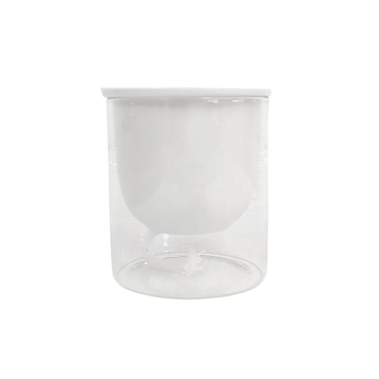 ガラス素材 育成セット イージーポット Kシリーズ ホワイト パフカルソイル付き