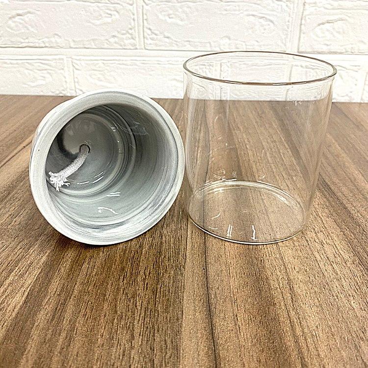 ガラス素材 育成セット イージーポット Kシリーズ ブラック パフカルソイル付き