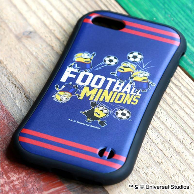 ミニオン×サッカー iPhoneラバーエッジ(集合)