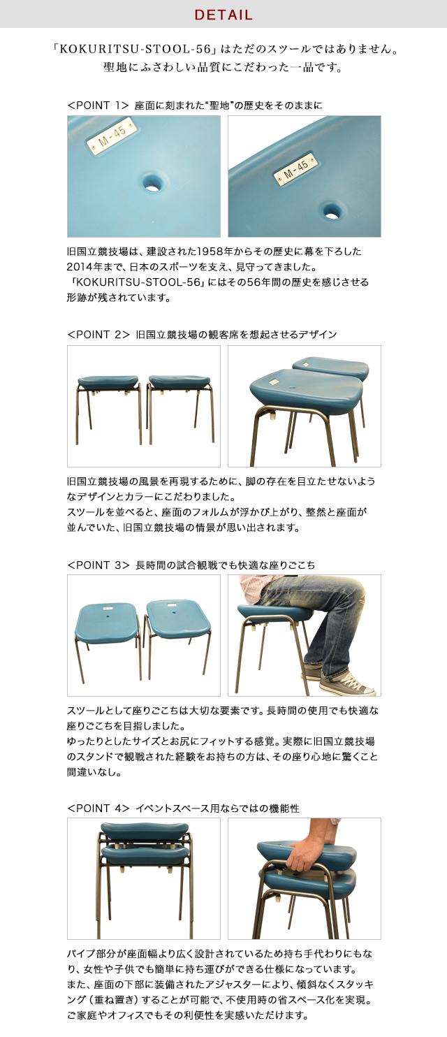 【中古品につき値下げ!】「KOKURITSU-STOOL-56」