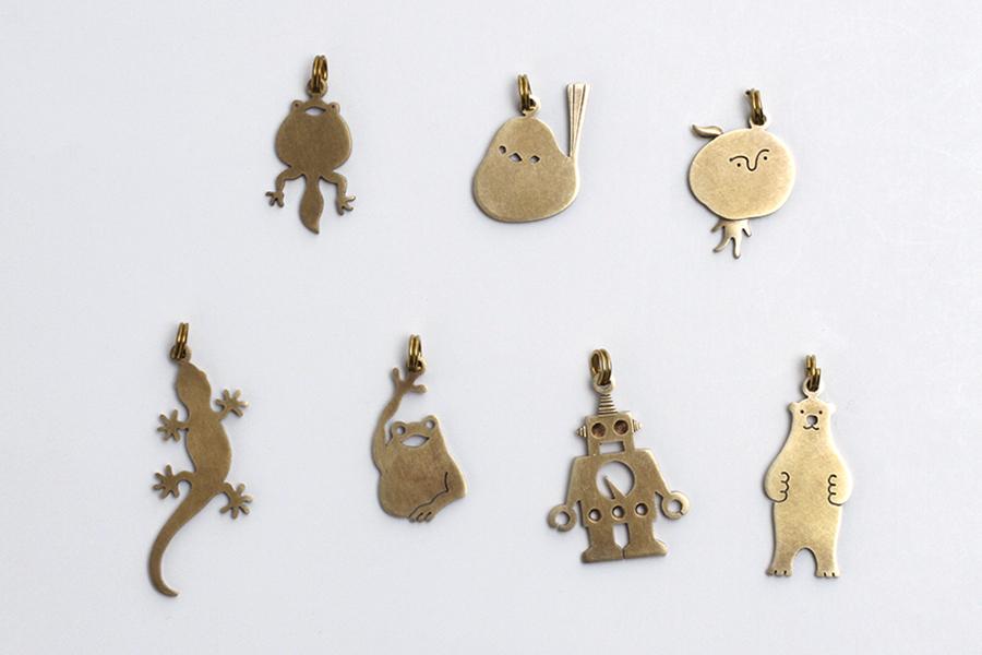 真鍮ネックレス(ロングチェーン) シマエナガ