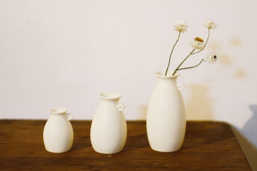小さな花器・そばかす(Ivory)