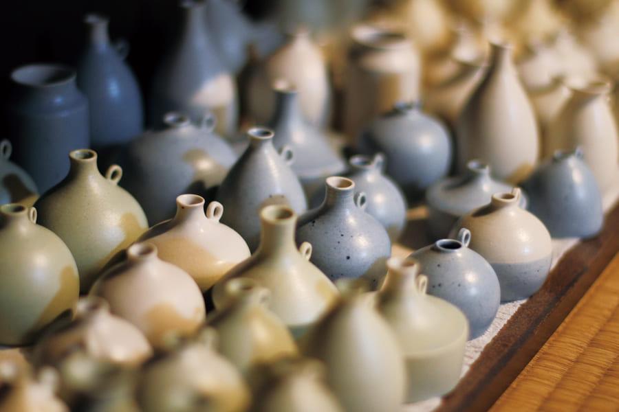 小さな花器・空(blue)