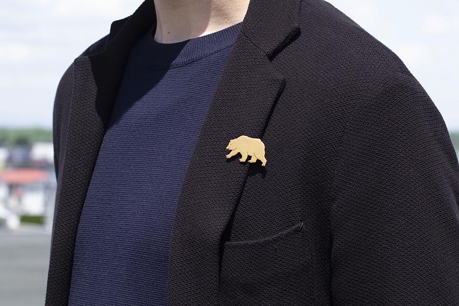 真鍮ブローチ ヒグマ