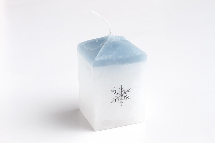 雪の結晶キャンドル(大)