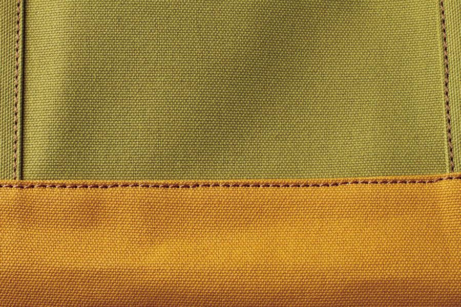 レザー×帆布トートバッグ